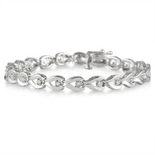 Round Cut Diamond Link Bracelet