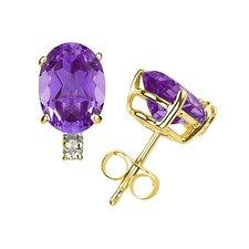Oval Cut Gemstone Stud Earrings