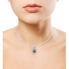 Sterling Silver Round Cultured Pearl Pendant