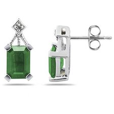 Emerald Cut Emerald Stud Earrings