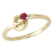 Round Cut Gemstone Twist Ring