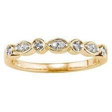 <strong>Szul Jewelry</strong> 10K Yellow Gold Round Cut Diamond Promise Ring