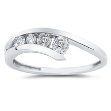 14K Round Cut Diamond Journey Ring