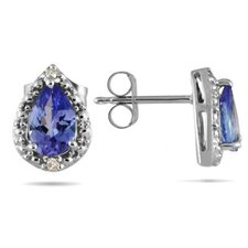 Pear Cut Tanzanite Stud Earrings