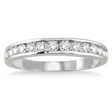 Round Cut Channel Set Diamond Band