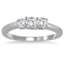 <strong>Szul Jewelry</strong> Sterling Silver Round Cut Diamond Ring