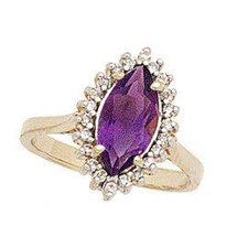 14K Yellow Gold Marquise Cut Gemstone Twilight Splendor Ring
