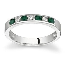 <strong>Szul Jewelry</strong> 14K Gold Round Cut Gemstone Stackable Ring