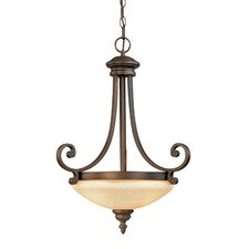 Oxford 3 Light Bowl Pendant