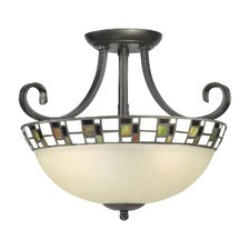 Monroe 2 Light Semi-Flush Mount