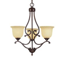 <strong>Millennium Lighting</strong> Courtney Lakes 3 Light Chandelier
