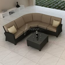 Barbados 4 Piece Sectional Deep Seating Group with Cushion