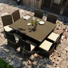 <strong>Forever Patio</strong> Hampton 9 Piece Dining Set