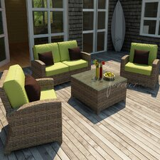 <strong>Forever Patio</strong> Cypress 4 Piece Deep Seating Group with Cushion