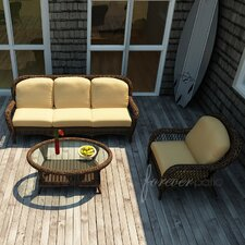 <strong>Forever Patio</strong> Leona 3 Piece Sofa Deep Seating Group with Cushion