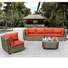 <strong>Sirio</strong> Salinas 4 Piece Deep Seating Group with Cushion