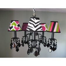 Wild Child Mix and Match 5 Light Chandelier