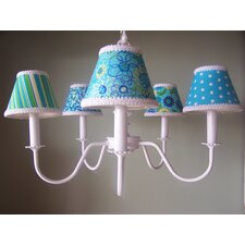 <strong>Silly Bear Lighting</strong> Aqua Mix and Match 5 Light Chandelier