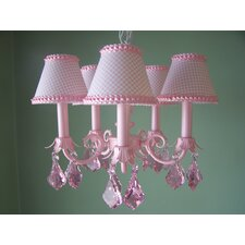Pretty in Pink 3 Light Chandelier