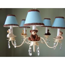 <strong>Silly Bear Lighting</strong> Teddy Time 5 Light Chandelier
