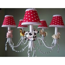 <strong>Silly Bear Lighting</strong> Barnyard Baby 5 Light Chandelier