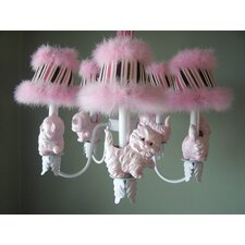<strong>Silly Bear Lighting</strong> Prissy Kitty 5 Light Chandelier