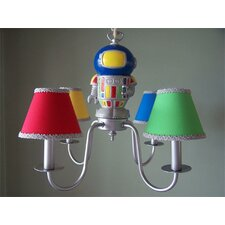 <strong>Silly Bear Lighting</strong> Space Robot 4 Light Chandelier
