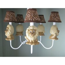 <strong>Silly Bear Lighting</strong> Lion Pride 5 Light Chandelier
