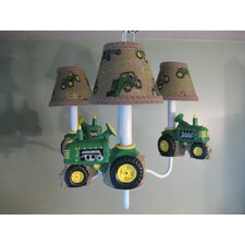 <strong>Silly Bear Lighting</strong> Farm Tractors 3 Light Chandelier