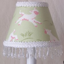 "5"" Mary's Little Lamb Fabric Empire Candelabra Shade"