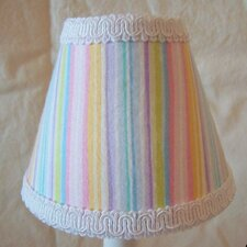 "5"" Super Sweet Stripe Fabric Empire Candelabra Shade"