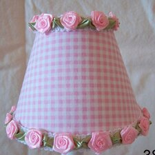 "5"" Gardens of Gingham Fabric Empire Candelabra Shade"