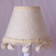 "5"" Minky Dinky Doo Fabric Empire Candelabra Shade"