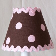 Chocolate Ric-Rac Table Lamp Shade