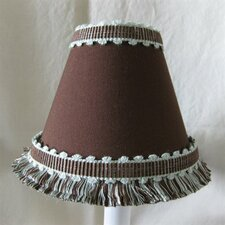 "5"" Cocoa Crispie Fabric Empire Candelabra Shade"