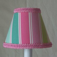 "5"" Special Rainbow Stripe Fabric Empire Candelabra Shade"