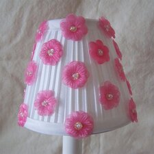 "5"" Flower Girl Fabric Empire Candelabra Shade"