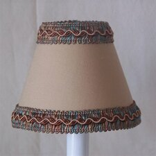 "5"" Cocoa Powder Fabric Empire Candelabra Shade"