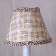 "5"" Beach Shack Plaid Fabric Empire Candelabra Shade"