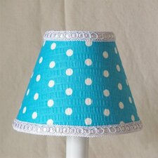 "5"" Delightful Dots Fabric Empire Candelabra Shade"