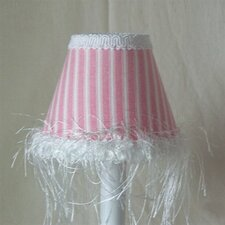 "5"" Cotton Candy Stripe Fabric Empire Candelabra Shade"