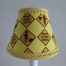 "5"" Construction Worker Fabric Empire Candelabra Shade"