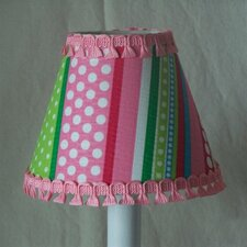 "5"" Stripes Gone Crazy Fabric Empire Candelabra Shade"