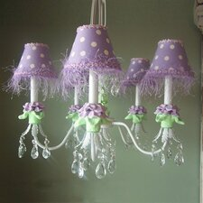 Baby Lavender Flower 5 Light Chandelier