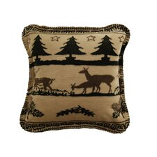 Acrylic / Polyester Deer Haven Pillow