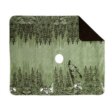 <strong>Denali Throws</strong> Acrylic Howling Wolves Double-Sided Throw
