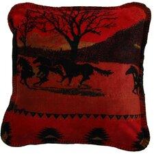 Acrylic / Polyester Running Horses Pillow