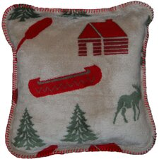 Acrylic / Polyester Moose Camp Pillow