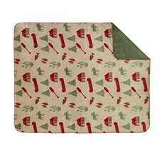 Acrylic Moose Camp Double-Sided Throw