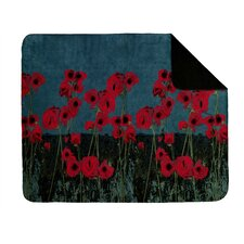 Acrylic Poppies Double-Sided Throw